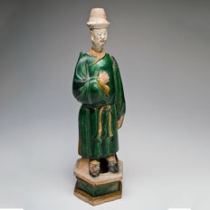 A Chinese Sancai-Glazed Tomb Figure- 47 cm