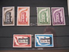 Benelux - collection in 2 old albums and an old booklet with Europa Stamps Luxemburg, Belgium and the Netherlands 1956