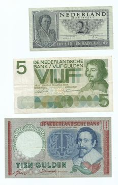 Netherlands - 2 ½, 5, 10, 25 and 100 guilder - Testators series