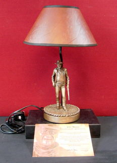 Bronze John Wayne table lamp with certificate