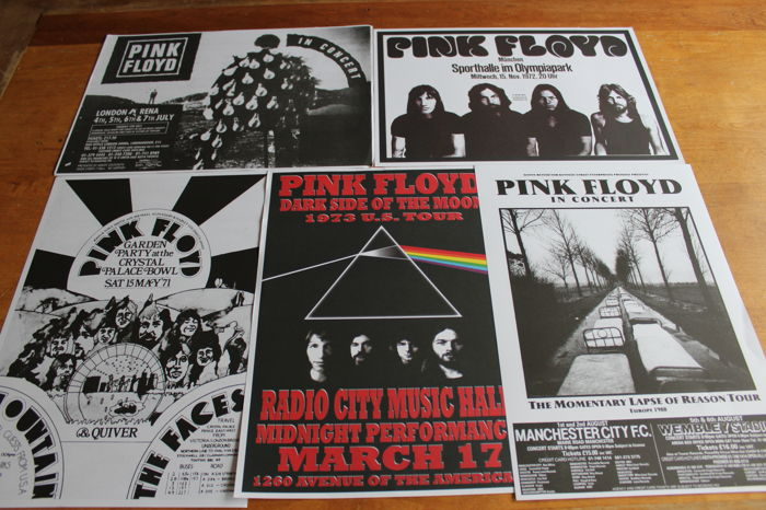Pink Floyd - Set of 5 Concert Posters