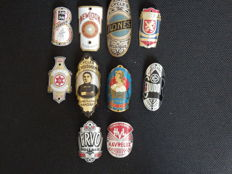 Collection of 10 Nice Bicycle Head Badges, Balhoofdplaatjes. with some Rare oa - Heusghem and R.Ones en andere