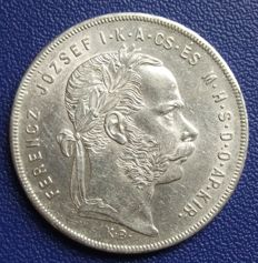 Austro-Hungary - 1 florin 1879 and 1 forint