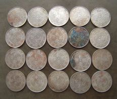 China, Kwangtung - 20 Cents 1920-1922 (20 pieces) - silver