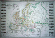 Europe; A Vuillemin - Nouvelle Carte Illustree de L'Europe - 1859.