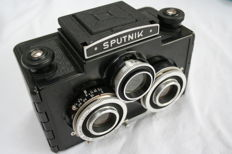 Sputnik stereocamera  with holding bag and shutter cable
