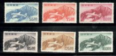 Japan 1952 - two airmail stamp sets - Michel 566/571 and 576/581