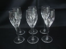 Atlantis Crystal - 6 Crystal Champagne Flutes - Portugal - late 20th century