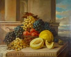 Continental school. (19th century) Still life of fruit.