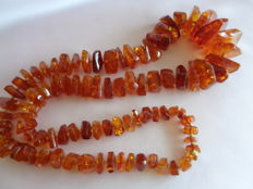 Extra large natural Baltic Amber necklace 115 grams