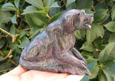 Fine Sugilite Dog - 121 x 49 x 101 mm - 800.0 g