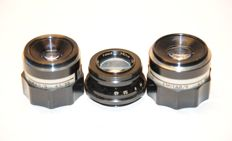 3 darkroom lenses 55 mm + 80 mm + 10.5 mm