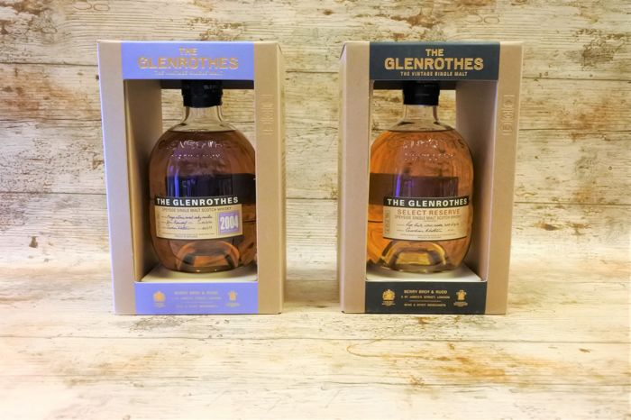glenrothes vintage 2004 select reserve in original show boxes 2 bottles