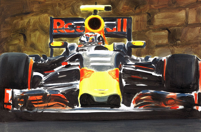 Max Verstappen Red Bull Racing Tag Heuer F1 Car Original Oil