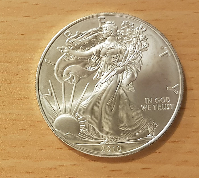 "United States - 1 Dollar 2010 ""Liberty"" - 1oz Silver, Uncirculated"