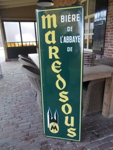 Old enamel advertising sign biere maredsous - 1961