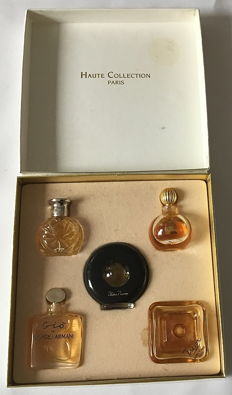 Perfume, 7 sets and 279 loose miniature bottles, see the description and photos