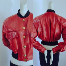 Vintage 1990 - Escada by Margaretha Ley - Germany – Genuine leather bomber jacket - Cataloque piece