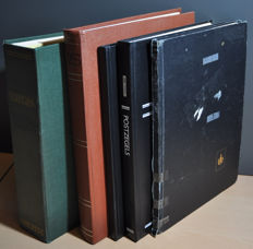 Spain - collection in a Schaubek album and stock books