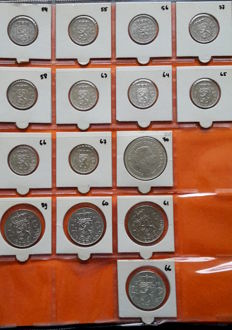 The Netherlands - collection 1948/1980 among which silver Guilders, 2½ guilders and 10 guilders and various coins from Europe