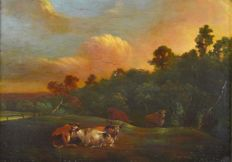 Manner of Albert Cuyp. (18th century) - Cattle in a landscape