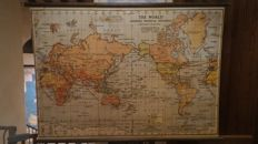 Large ancient World Map; H.E.C. Robinson - The World: Mercator's Projection - 1940 - 136 x 98 cm