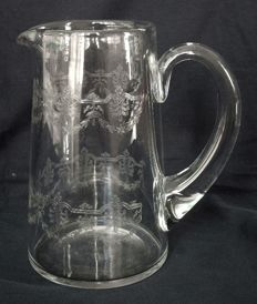 Baccarat crystal pitcher, model Beauharnais, France,  early 20th century