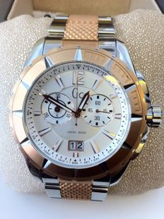 GUESS COLLETION CRONO Steel / Rose - Unisex - 2000 / 2010 - New