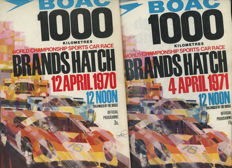 1969, 1967, 1970, 71  boac 1000 km & British  Grand prix  Programmes Silverstone and Brands Hatch  Rodreguez, Hill, Stewart,