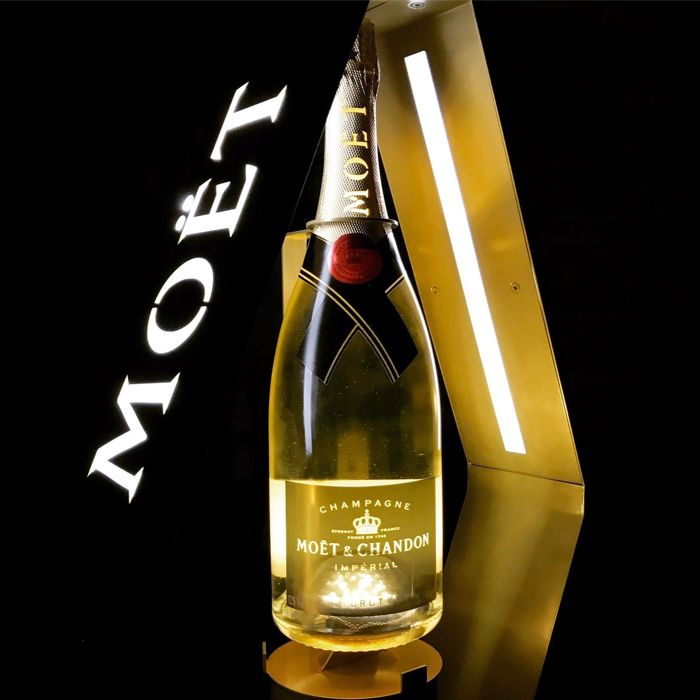 Moet Chandon display with LED lighting