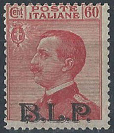 Italy, Kingdom 1922/1923 - 60 cents carmine with 'B.L.P.' overprint Type II - Sass.  No. 11