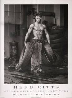 Herb Ritts - Fred with Tyres - 1984