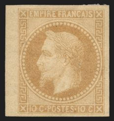 France 1867 - Rothschild impression, imperforate - Yvert no 28 Ba