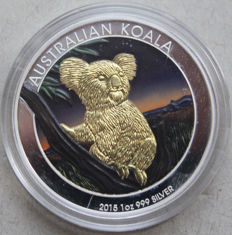 Australia - Dollar 2015 'Koala' - colorized - 1 oz sIlver
