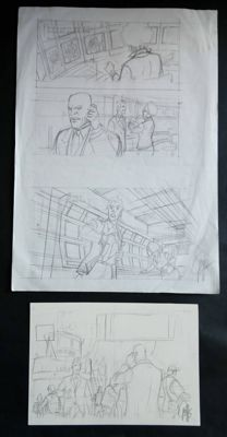 Griffo - 2 Original pencil pages (sketch) - Vlad