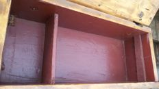 Wooden military ammunition crate