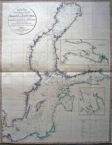 Baltic; William Faden - A General Chart of the Baltic or East Sea, Including the Gulfs of Botnia and Finland Compiled from the Surveys Made by Order of the Admiralties of Copenhagen, Stockholm & St. Petersburgh - 1803