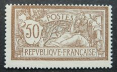 France 1900 - 50c brown and grey Merson Signed Calves with digital certificate - Yvert n°120