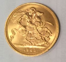 United Kingdom - Sovereign 1963 Queen Elizabeth II - gold