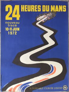 24 hours of le Mans 1972 - French original poster - 1972