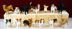 Collection of 13 dog figurines
