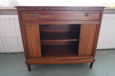Elegant mahogany 'penant' cabinet with tambour blind doors - Empire style