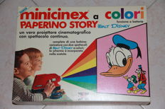 Walt Disney - Battery operated Minicinex Harbert + additional sealed film added to the onw in the box (1972)