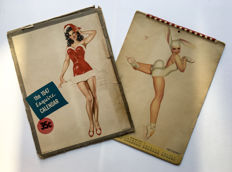 Vintage; lot with 2 pin-up calendars - 1947