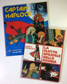 "Capitan Harlock - lot of 2x items - volume ""La flotta spaziale della Regina"" + a Panini complete sticker album"