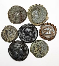 Greek Antiquity - Seleukid Kingdom. Lot comprising 7 AE coins of various kings