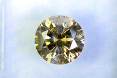 """ Rare "" Diamond  1.58 ct  – Fancy Yellowish GREEN –  SI1 – Excellent Cut – No Reserve Price"