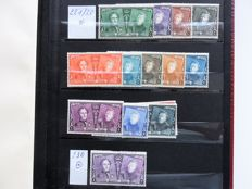 Belgium - Collection with stamps, blocks and postal items