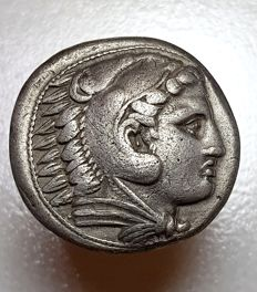 Greek Antiquity - Kings of Macedon, Alexander III The Great , 336-323BC, AR Tetradrachm, Amphipolis Mint, struck under Antipater, 320/19 BC