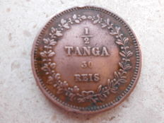 Portugal – Monarchy – India – D. Luis I  – 1/2 Tanga 30 Réis 1871